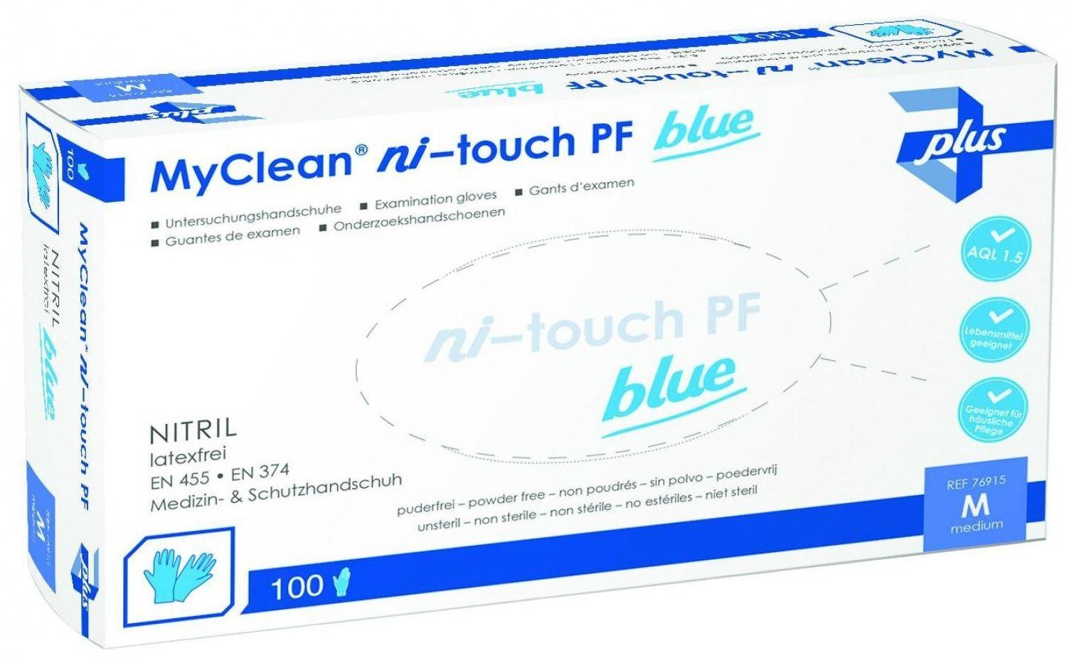 slide image MaiMed Ni-Touch pf Nitrilhandschuhe 10x 100 blau